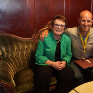 "Billie Jean King talks with John Horn about the film ""Battle of the Sexes."""