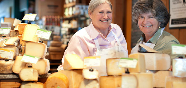 Cowgirl Creamery founders Sue Conley and Peggy Smith.