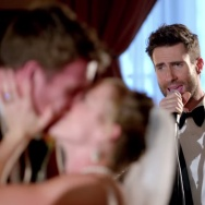 "A screenshot from Maroon 5's ""Sugar"" music video."