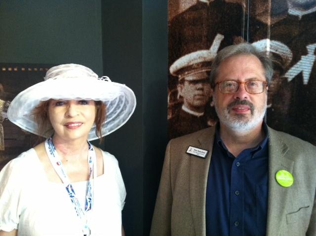 KPCC's Patt Morrison with museum historian Tom Hanchett.
