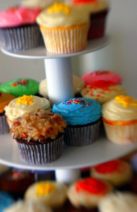 Cupcakes of all colors.
