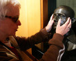 Jennifer Helen Simon, blind since birth, feels a lifesize bronze bust of 'The Don' in order to imagine his appearance at the Bradman Museum in Bowral in the Southern Highlands on August 27, 2008.