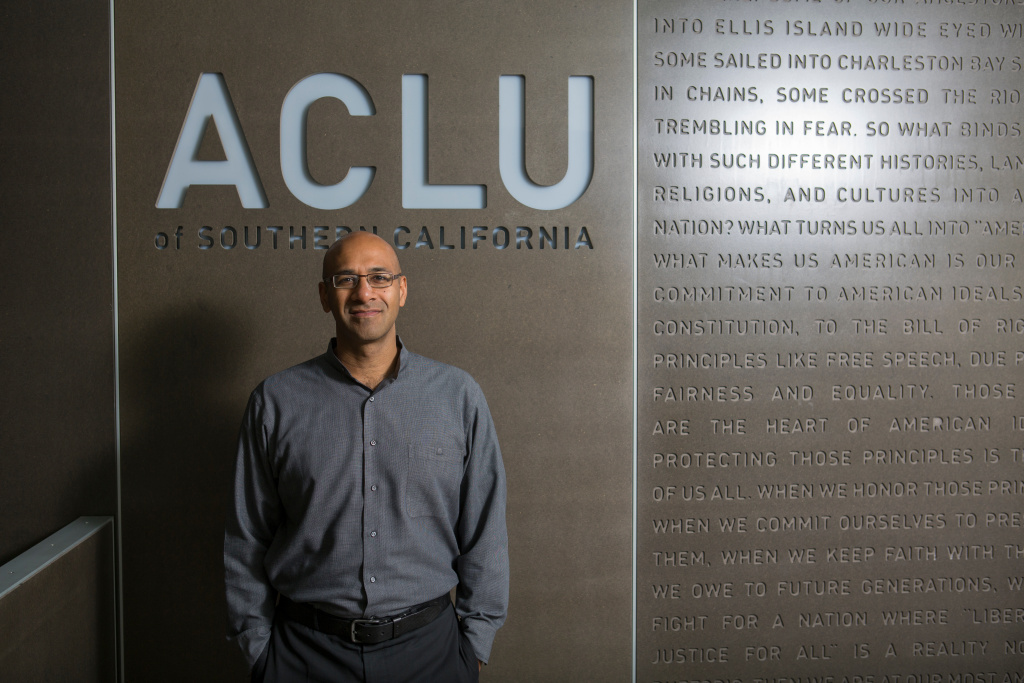 Ahilan Arulanantham, 2016 MacArthur Fellow, ACLU Southern California Offices, Los Angeles, California.