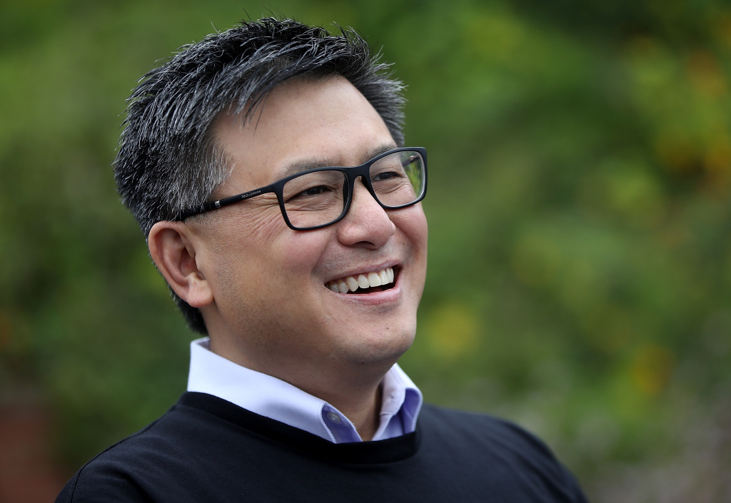 California Democratic gubernatorial candidate, California State Treasurer John Chiang, looks on during a campaign event near the Golden Gate Bridge on June 7, 2017 in San Francisco, California.