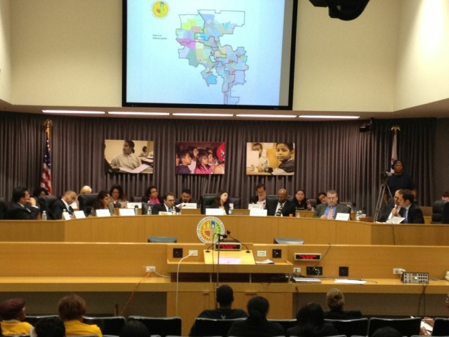 The LAUSD Redistricting Commission met Feb. 23 to vote on a map to send on to the City Council for new school board district lines.