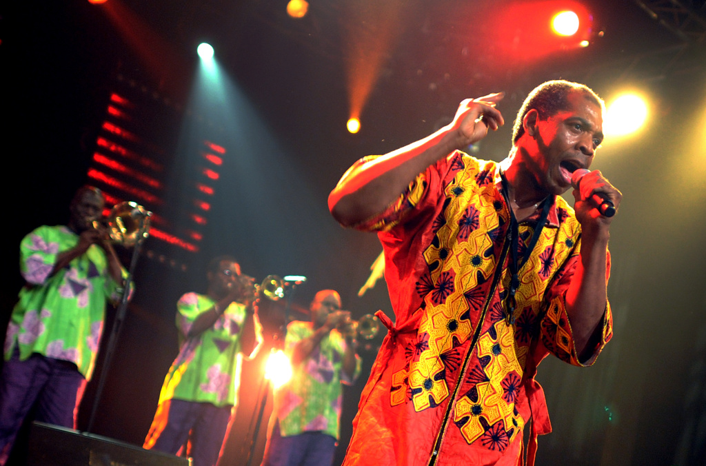 Femi Kuti, Nigerian musician and son of late Afrobeat icon Fela Kuti, performs during the 45th Montreux Jazz Festival on July 14, 2011 in Montreux. The music festival will last until July 16