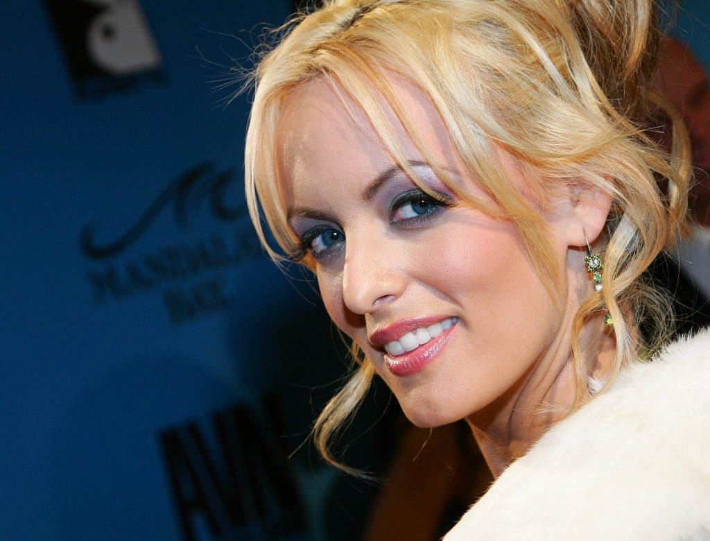 File: Adult film actress Stormy Daniels arrives at the 24th annual Adult Video News Awards Show at the Mandalay Bay Events Center January 13, 2007 in Las Vegas, Nevada.