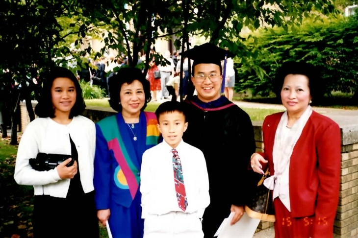 Christopher Phan and his mother.