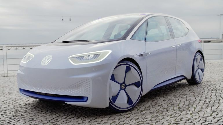 The Volkswagen ID is one of three battery-electric concepts Volkswagen will put into production.