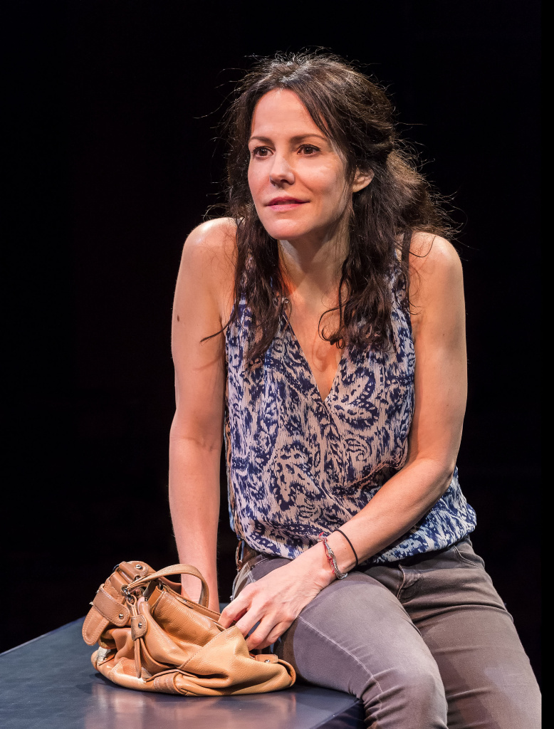 "Mary-Louise Parker in ""Heisenberg."" Written by Simon Stephens and directed by Mark Brokaw, ""Heisenberg"" plays through August 6, 2017, as part of Center Theatre Group's 50th anniversary season at the Mark Taper Forum. (Photo by Craig Schwartz.)"