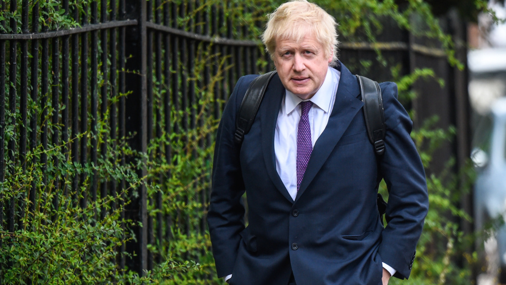 Boris Johnson must appear in court to face accusations that he lied to the public about the costs of being in the European Union. He's seen here on Monday, arriving at his girlfriend's home in London.