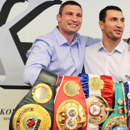 Ukrainian heavyweight boxers Wladimir Kl