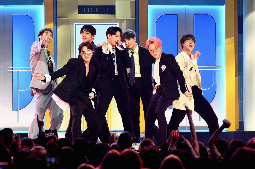 BTS performed at the 2019 Billboard Music Awards in Las Vegas.