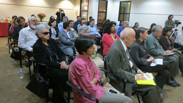 Afghan Americans and Muslim Americans listen to mayoral candidates on Sept. 28, 2012 at the Fremont Family Resource Center.