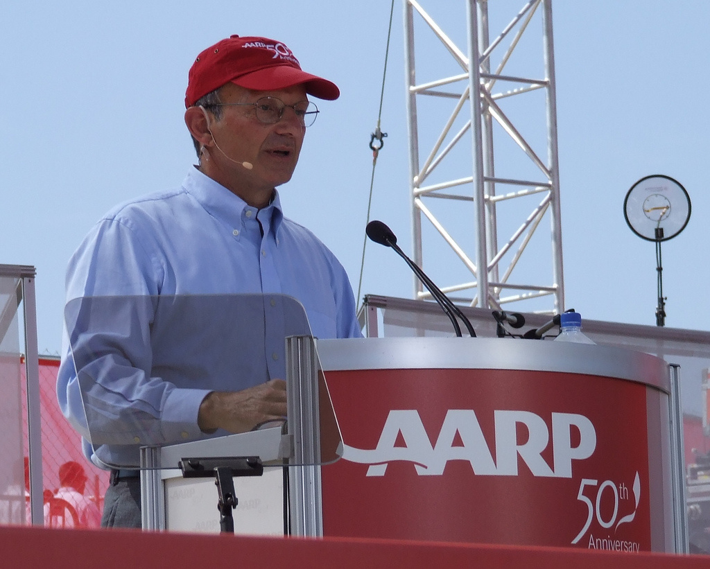 AARP CEO Bill Novelli speaks at AARP 50th anniversary event in 2008.