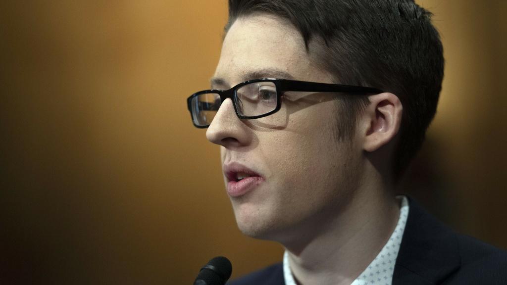 Ethan Lindenberger of Norwalk, Ohio, told senators