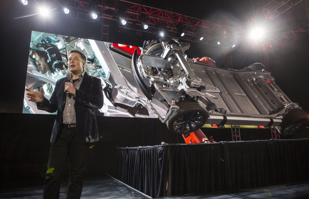 Elon Musk, CEO of Tesla Motors Inc., announces its new car Tesla