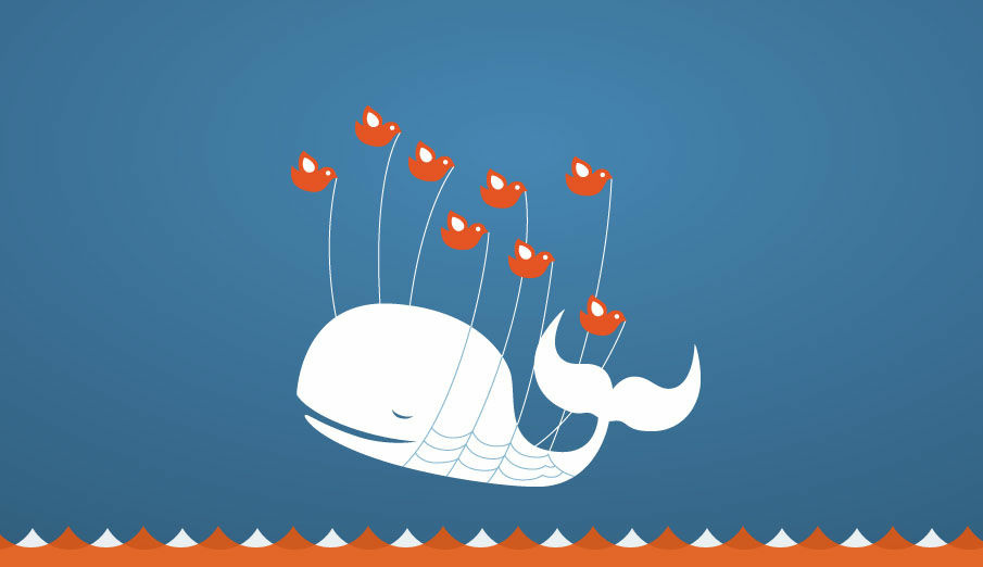 The infamous Twitter fail whale. An image that means something is amiss.