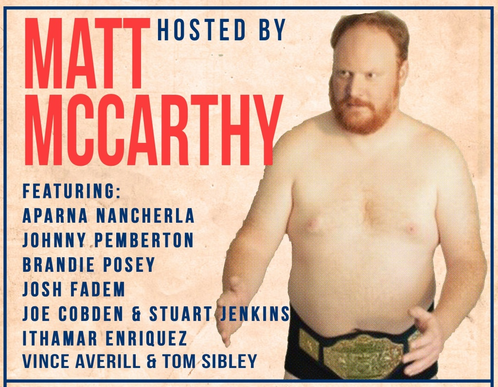From the poster for the Comedy 'N Wrestling Connection comedy show in Silver Lake on Thursday, Jan. 19, 2017.