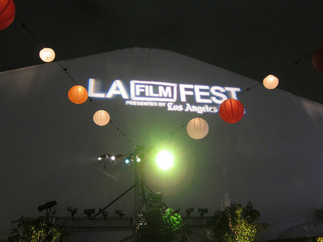 A photo from last year's Los Angeles Film Festival. The event will be back in downtown tonight.