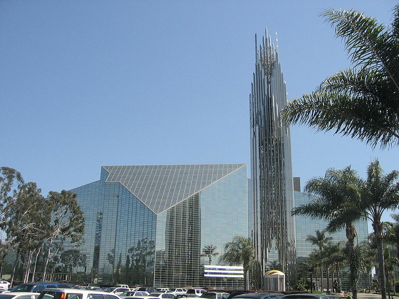 The exteriors of Crystal Cathedral. Garden Grove, CA.