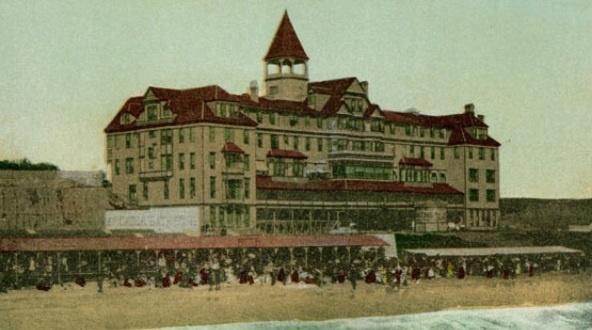 Historic postcard of Arcadia Hotel, Santa Monica