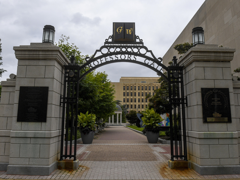 George Washington University says Jessica A. Krug has resigned from her position as an associate professor at the school.