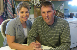 Randy Shepherd, 36, shown with his wife, Tiffany, was authorized by an Arizona state agency to receive a heart transplant. But now, because of budget cuts, the agency says it's unable to pay for the procedure.