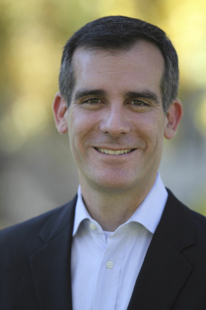 Councilman Eric Garcetti has represented the Hollywood area for 12 years. Today, his mayoral campaign announced support from some of the industry's biggest CEOs.
