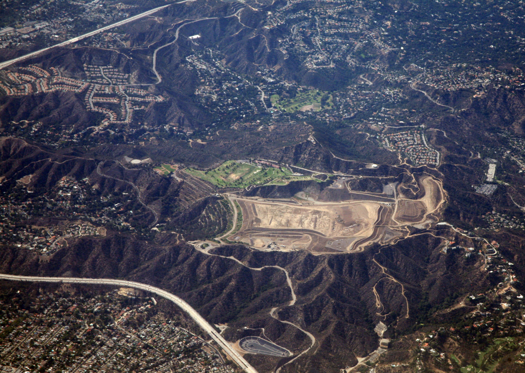 An aerial shot showing the Scholl Canyon dump in Glendale near the 134 Freeway on June 25, 2013.