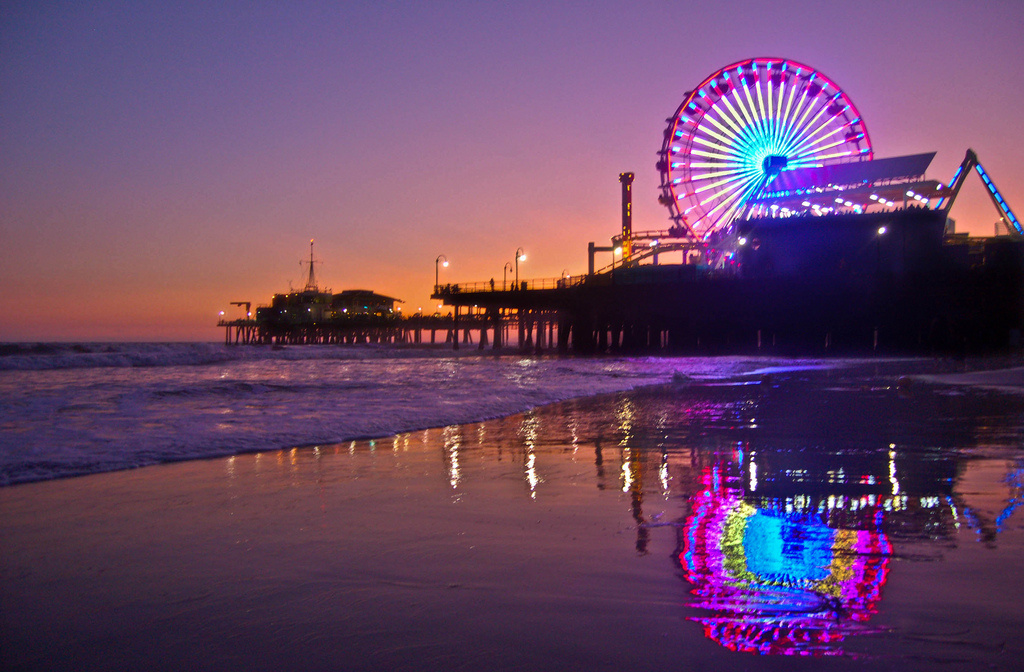 Along with more than a dozen landmarks across the U.S. and Canada, the Ferris wheel at the Santa Monica Pier will light up to promote next week's