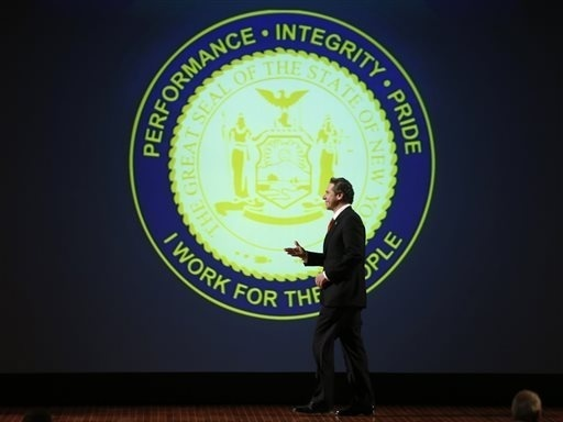 New York Gov. Andrew Cuomo walks across the stage to deliver his annual State of the State address earlier this month, where he called for access to medical marijuana for some patients.