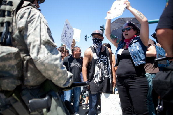 Protests Continue In Anaheim Against The Police Department's Recent Shootings