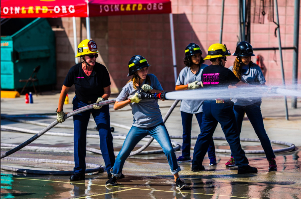 The Los Angeles Fire Department is hosting a Girls Camp this weekend in hopes of cultivating more interest in firefighting as a career for women.