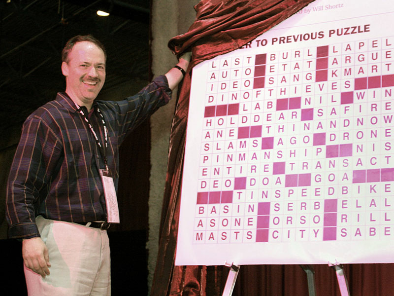 The New York Times Crossword Editor Will Shortz ponders John's puzzle: what will happen to crosswords when the papers die?