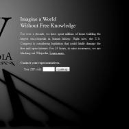 SOPA/PIPA protest, Wikipedia