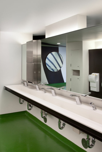 New Hollywood Bowl bathrooms by Rios Clementi Hale Studios.
