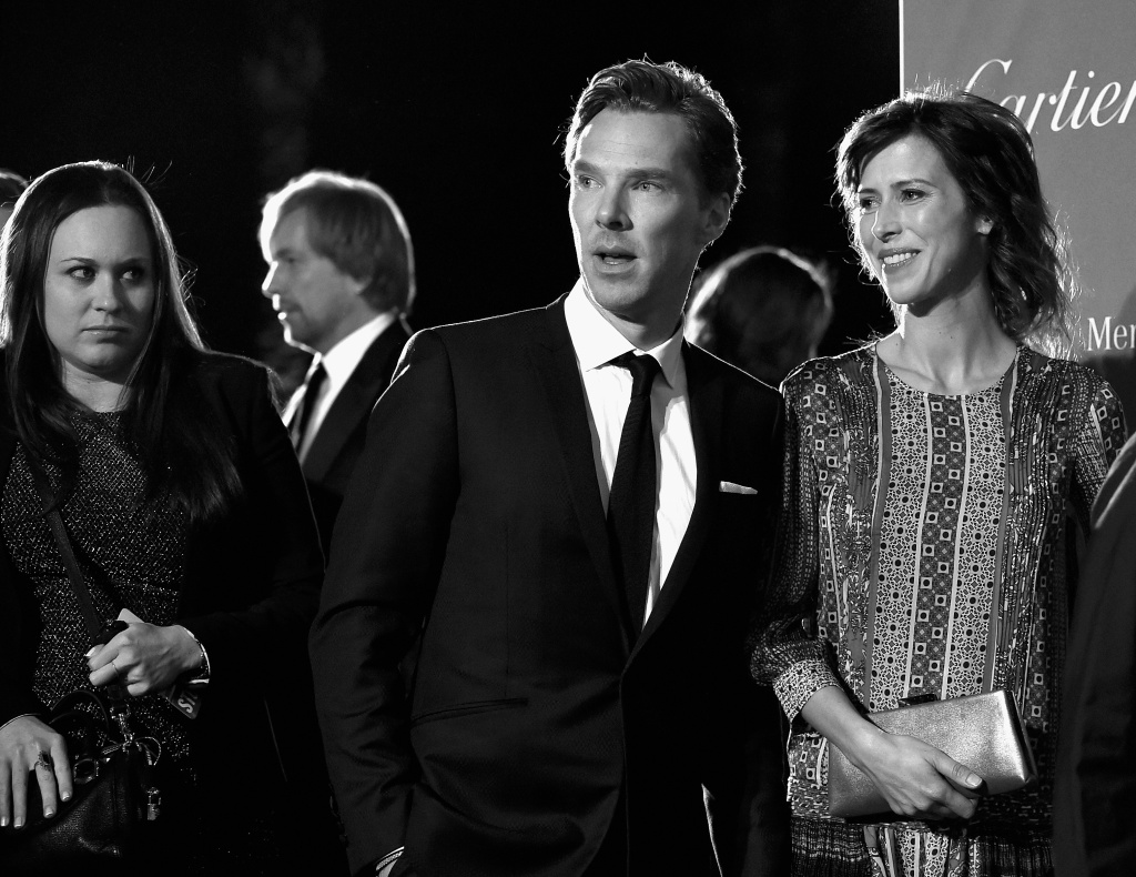 Actors Benedict Cumberbatch and Sophie Hunter arrive at the 26th Annual Palm Springs International Film Festival Film Festival Awards Gala at Palm Springs Convention Center on January 3, 2015 in Palm Springs, California.
