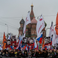 Mourners March After Russian Opposition Politician Boris Nemtsov Shot Dead