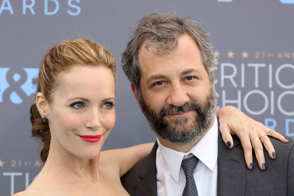 Actress Leslie Mann and her husband, producer-director Judd Apatow.