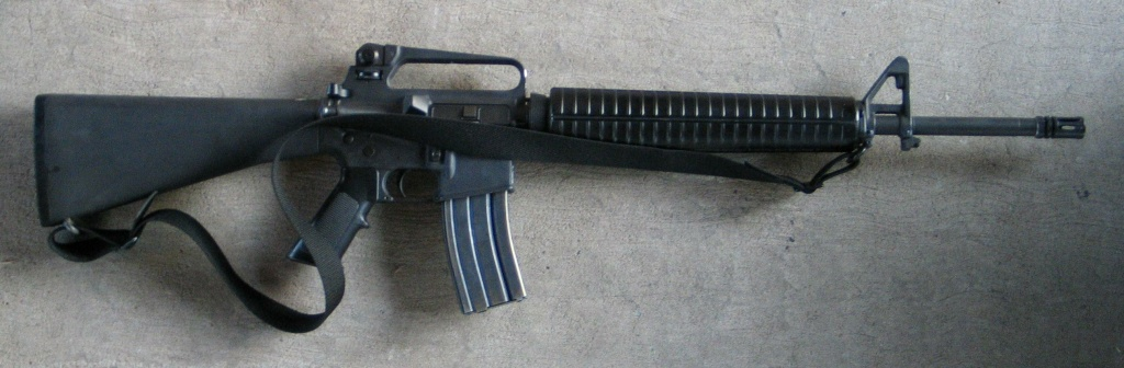 An M-16 assault rifle.