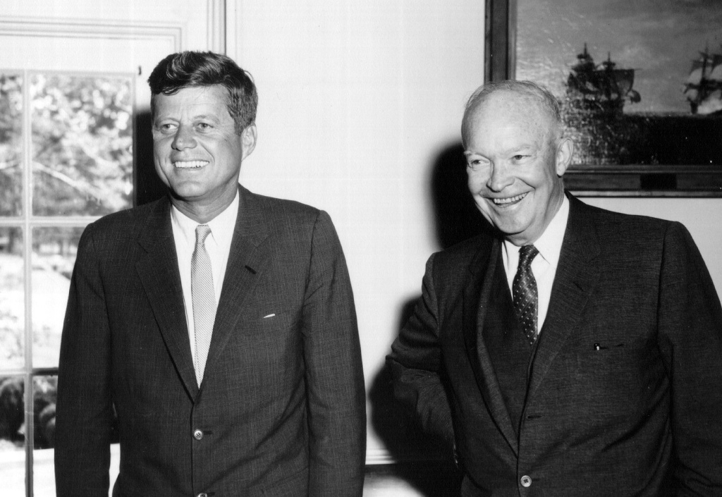President John F. Kennedy and former president Dwight D. Eisenhower September 10, 1962 at the White House.
