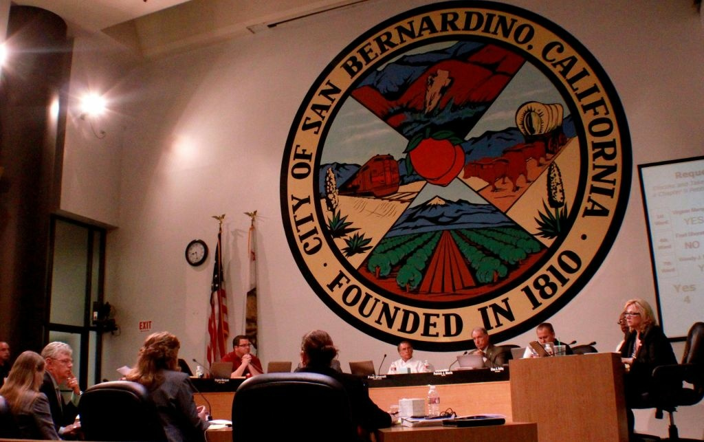 San Bernardino city council voted to prepare a bankruptcy late Tuesday. The bind market was completely shocked.