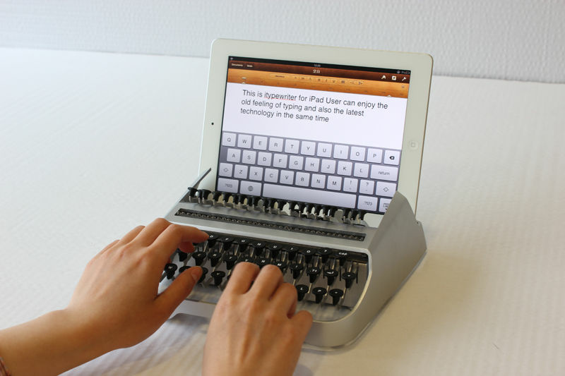 The iTypewriter is a keyboard accessory concept for the iPad.