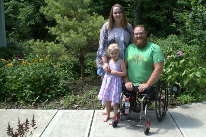 Army veteran Jason Gibson and his wife Kara paid out of pocket for IVF treatments that resulted in the birth of their daughter Quinn. Gibson lost both legs in an IED explosion in Afghanistan.