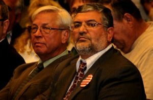 Harmoush at a Temecula planning commission hearing, December 2010