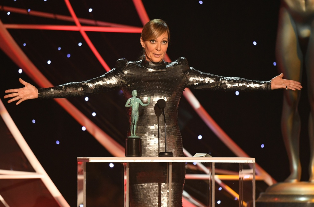 Allison Janney accepts the Outstanding Performance by a Female Actor in a Supporting Role award for 'I, Tonya' onstage during the 24th Annual Screen Actors Guild Awards show at The Shrine Auditorium on January 21, 2018 in Los Angeles, California.