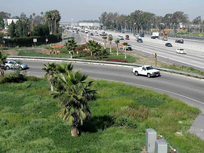 A 405 Freeway ramp in Costa Mesa.
