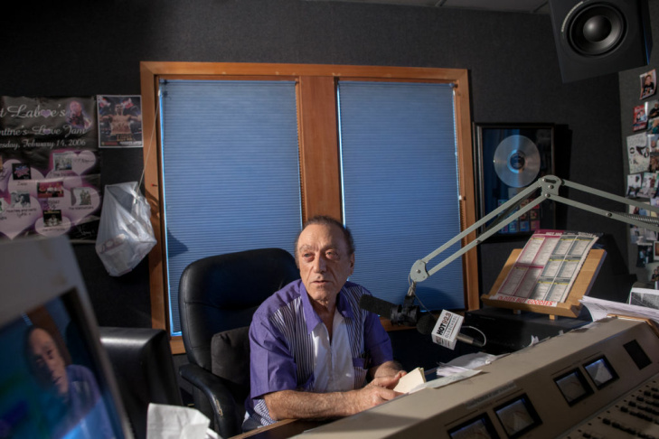 Art Laboe, 87, broadcasts live from his studio in Hollywood every night on Hot 92.3 The Beat.
