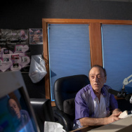 Art Laboe in his studio in Hollywood.